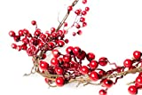 6 Foot Red Berry Garland - Perfect to Bring Holiday Cheer into Your Home This Season