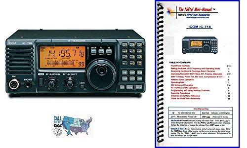 Manual Radio Icom (Icom IC-718 Radio and Accessory Bundle - 3 Items - Includes 100W HF Base Radio, Nifty! Accessories Mini-Manual and Ham Guides TM Quick Reference Card)