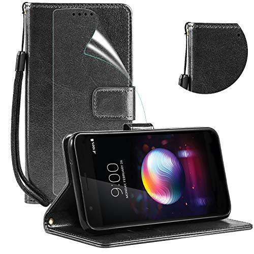 LG K30 Case,LG K10 2018,LG Premier Pro LTE,Harmony 2,LG Phoenix Plus,Screen Protector,Kickstand,Card Slots,Wrist Strap,Magnetic Flip Leather Wallet Cover for LG CV3 Prime/Xpression - Xpression Cover Lg