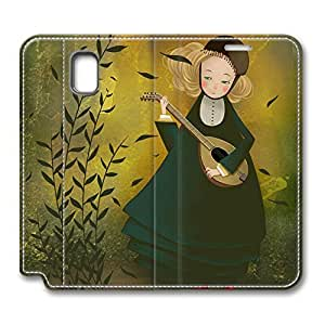 Brian114 Samsung Galaxy Note 3 Case, Note 3 Case - Customized Leather Case for Samsung Note 3 Girl Playing Violin Protective Stand Leather Case for Samsung Galaxy Note 3