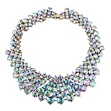 KTYX European and American Color Diamond Short Necklace Popular Pop Wild Jewelry