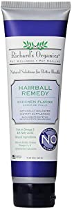 Richard's Organics Hairball Remedy – Chicken Flavor - Naturally Eliminates and Prevents Hairballs in Cats – Promotes Healthy Skin and Coat - Natural Ingredients, 100% Petroleum and Petrolatum-Free (4.25 oz. tube) - FG00480