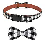 Vaburs Dog Bow Tie, Dog Cat Collar with Bow Tie