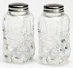 Salt & Pepper Shaker Set - Eyewinker - French Opalescent - Mosser USA