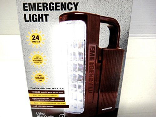 Daewoo DRL-1023S Rechargeable Emergency Flashlight LED Lantern, 220-volt by Daewoo (Daewoo Air Conditioning)