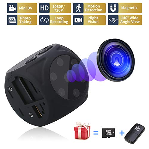 USB Hidden Camera – Spy Camera Wireless Hidden – Mini Camera No WiFi – 1080P Portable Small Camera with Night Vision and Motion Detective,Security Camera Surveillance Camera Nanny Cam for Car HOM
