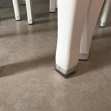 16 unids Silla Cuadrada Tapas de Pata 42-48mm Mesa de Silicona Transparente Muebles Pies de la Pata Puntas Consejos Cubre Protectores de Piso de Madera