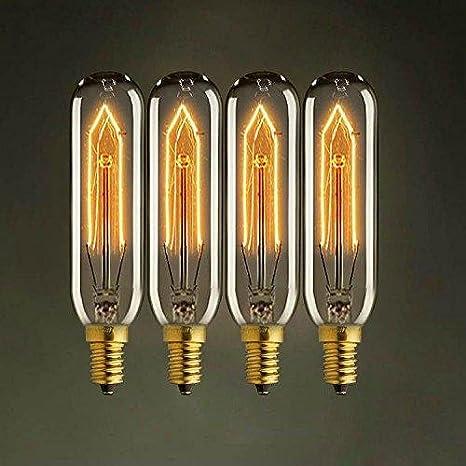 TY@ Vintage Edison Gl/ühbirne E14 Dimmbar 2300 K 280 LM T10 220V Reagenzglas Lampe tubo Leuchtmittel Gl/ühlampe 6PCS 20w