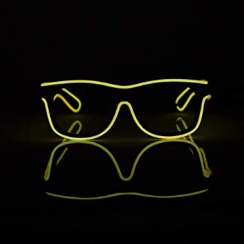 YHLVE Gafas LED, EL Wire Fashion Neon Gafas de Sol con luz fría para Bailar Party Bar Meeting-DJ Bright Props