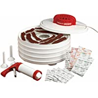 Nesco FD-28JX Jerky Xpress Dehydrator Kit with Jerky Gun, White
