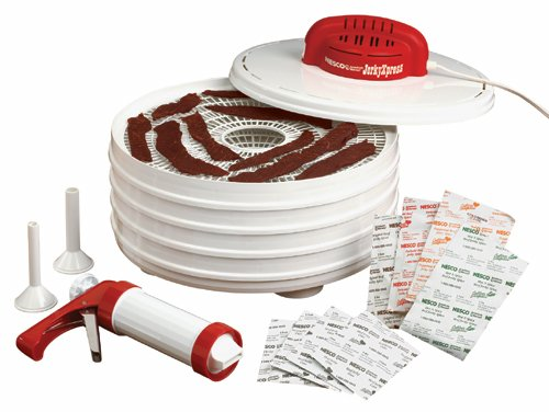 Nesco 4 Tray Food Dehydrator - Nesco FD-28JX Jerky Xpress Dehydrator Kit with Jerky Gun - MADE IN USA