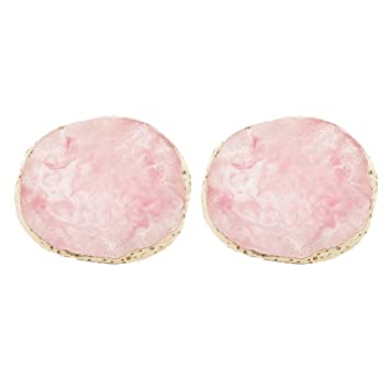 2x Drink Coaster Cup Mat Imitation Agate Display Pad Nail Art Palette White