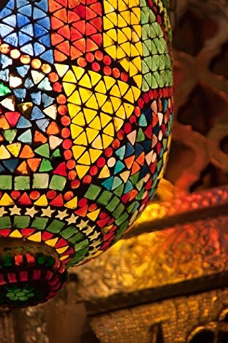 Lamp in antique shop Marrakech Morocco Poster Print by William Sutton (23 x 34)