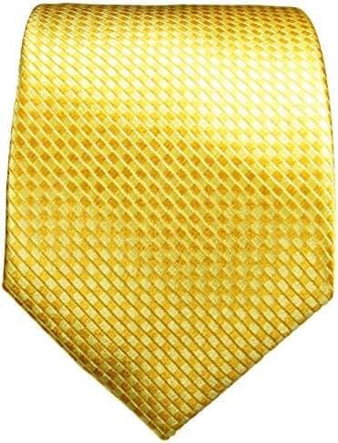 Paul Malone Necktie . 100% Silk . Yellow