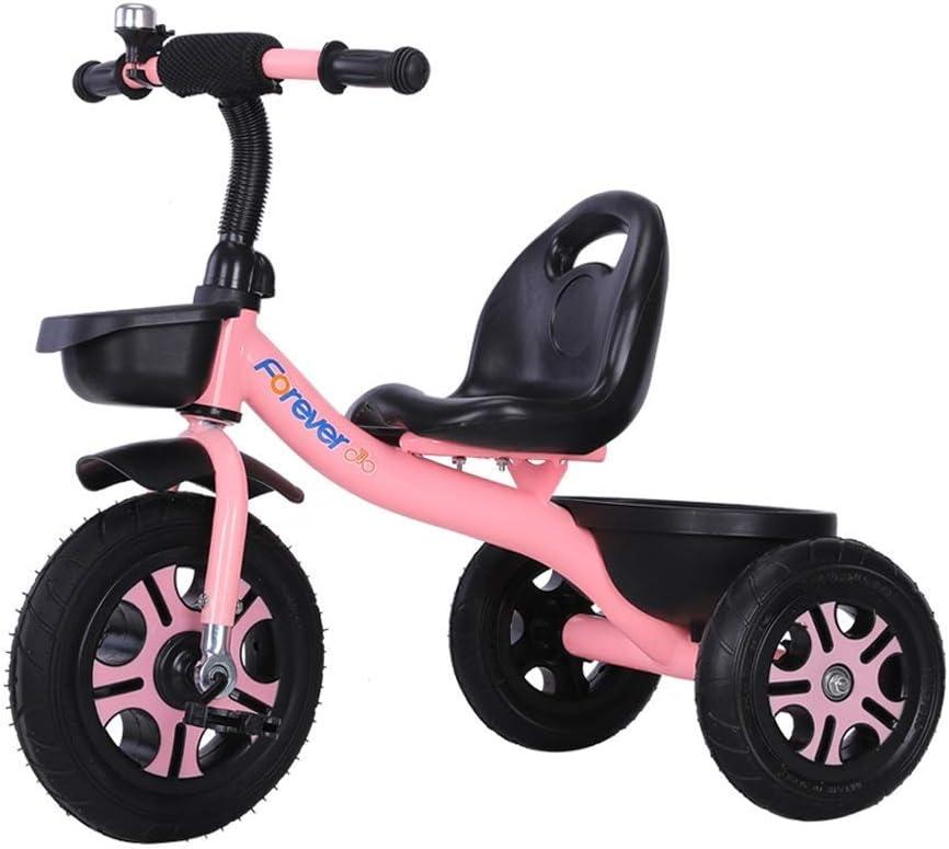 WLD Bicicleta de entrenamiento Marco Cochecito Bicicleta de equilibrio Cochecito de bebé Triciclo para niños Juguetes para niños Excursión Juguete de pasajero con campana Regalo de cumpleaños para be