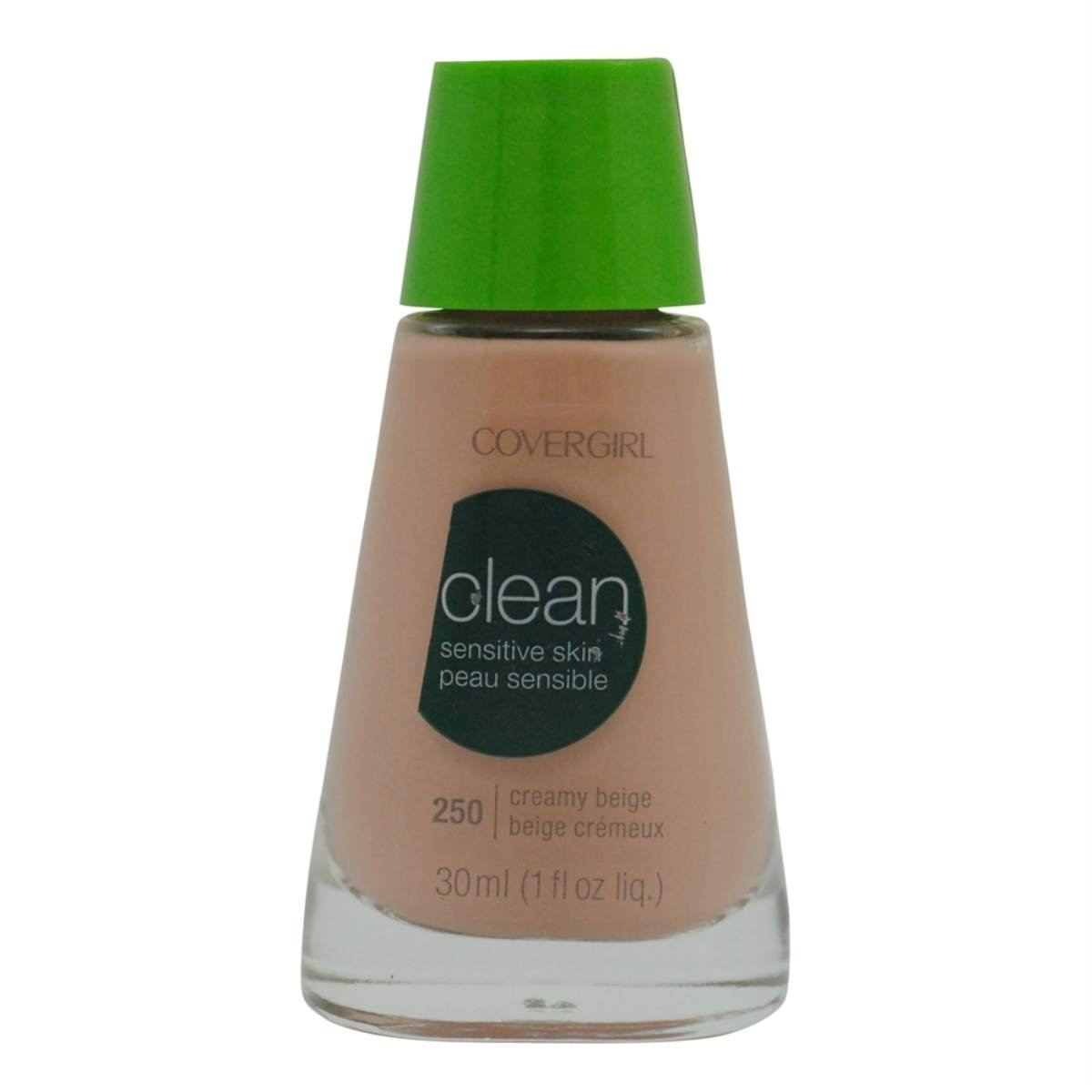 Amazon.com : CoverGirl Clean Sensitive Skin Liquid Makeup, Creamy Beige 250, 1.0 Ounce Bottles : Foundation Makeup : Beauty