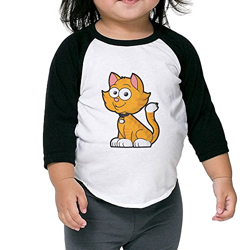 [Cayonom Child Kids Smile Cat Baseball Jersey T-Shirt 5-6 Toddler] (Baby Ruth Costume)