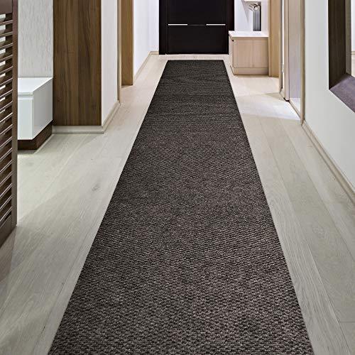iCustomRug Indoor/Outdoor Utility Berber Loop Carpet Runner and Area Rugs in Brown Many -