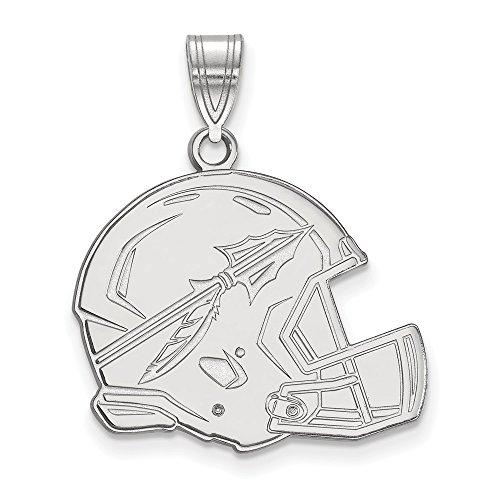 Seminoles Fsu Pendant (Jewelry Stores Network Florida State University Seminoles Football Helmet Pendant in Sterling Silver L - (20 mm x 23 mm))