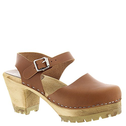 Leather Clog Sandals - MIA Women's Abba Mule, Luggage, 10 M US