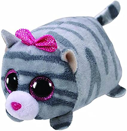 Amazon.com: Teeny Ty Cassie grey cat: Toys & Games