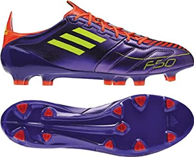 Adidas Men's F50 Adizero TRX Firm Ground Leather Soccer Cleats, Anodized Purple/Electricity/Infrared, 11.5 M US