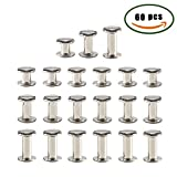 snowboard package boot - ManYee 60 sets Chicago Binding Post Screws Stainless Metal Stud Screw Phillips Cross Head Belt Screw Rivets for Leather Bolt Nut Barrel Studs Nail Rivets DIY 1/4 (6mm) 3/8 (10mm) 1/2 (12mm)