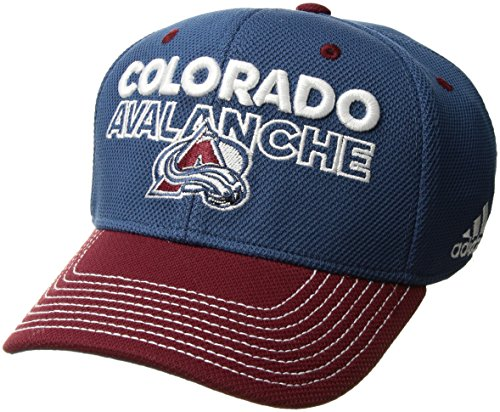 fan products of adidas NHL Colorado Avalanche Adult Men Pro Authentic Locker Room Structured Flex, Large/X-Large, Blue