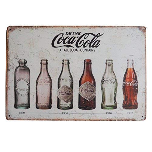 (M-Mount Tin Signs Coca Coca Drink Decorative MetalIron Home Office Bar Shop Plaque House Cafe Gift Retro Style Back Wall Creative Restaurant 12 X 8)