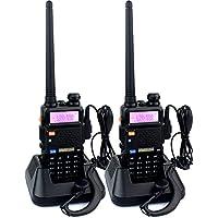 Retevis RT-5R 2 Way Radio 5W 128CH UHF/VHF 136-174/400-520 MHz Dual Band Dual Standby DTMF/CTCSS/DCS FM Ham Radio (2 Pack)
