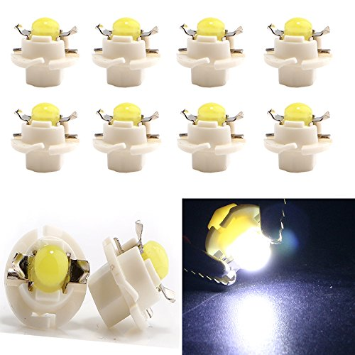 - Grandview Car B8.4D COB 1SMD White LED Lamps Dashboard Side Indicator Lights Instrument Panel Bulb Light 12V (Pack of 10)