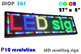 LED scrolling sign P10 full color, tool for advertising your business ,LED message board
