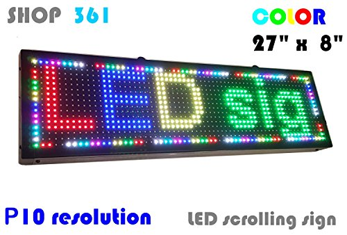 LED scrolling sign P10 full color, tool for advertising your business ,LED message board by 361 signs