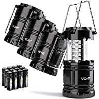 4-Pack Vont Portable Collapsible LED Lanterns (Batteries Included)