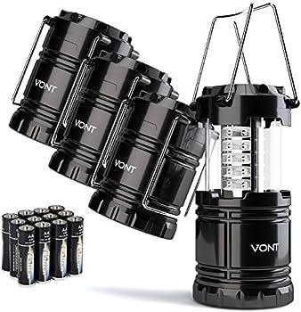 4-Pack Vont Portable Collapsible LED Lanterns