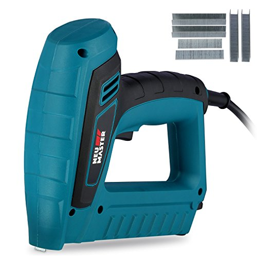 NEU MASTER N6033 Electric Staple Brad Nail Gun Kit Includes 400 Staples and 100 Nails