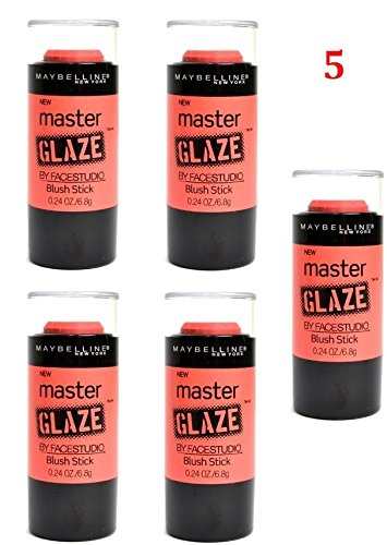 Discount (Pack of 5) - Maybelline New York Face Studio Master Glaze Glisten Blush Stick, 30 Coral Sheen, 0.24 Ounce hot sale