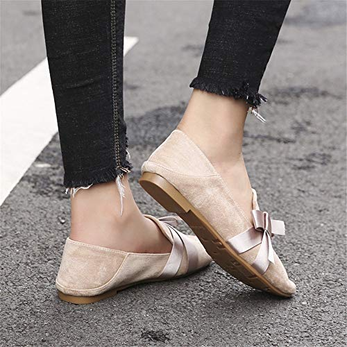 single office Bow flat non casual shoes shoes EU 37 FLYRCX shoes slip work ladies 5CzHTSwq