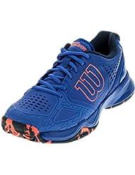 Wilson Kaos Comp Womens Tennis Shoe Purple/Navy/Neon