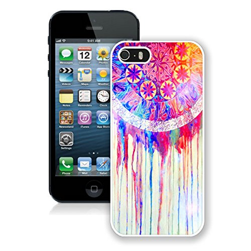 FAGUO Colorful Dream Catcher iPhone 5 5S Case White Cover Fashion cell phone cases (Iphone 5s 32gig Unlock)