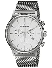 Claude Bernard Men's 10217 3M AIN Classic Dress Chronograph Analog Display Swiss Quartz Silver Watch
