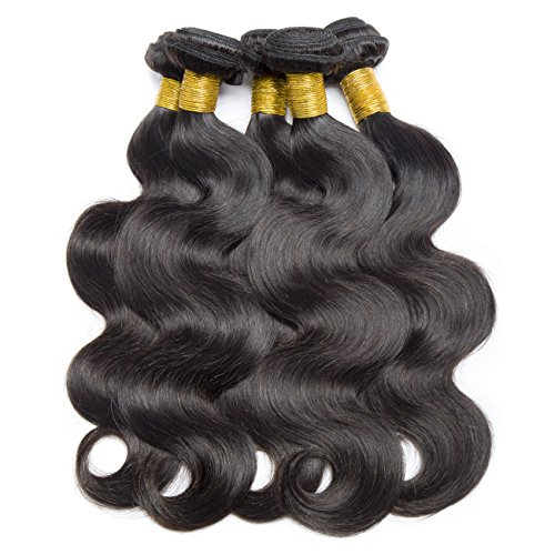 VIPbeauty Hair Body Weave 3 Bundles 12 14 16 inches Brazilian Virgin Remy Hair Extensions Unprocessed Natural Color 95-105g/pc