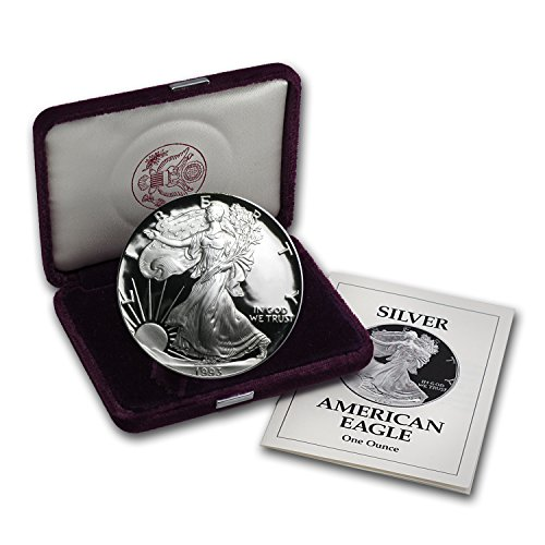 1993 P 1 oz Proof Silver American Eagle (w/Box & COA) 1 OZ Brilliant Uncirculated ()