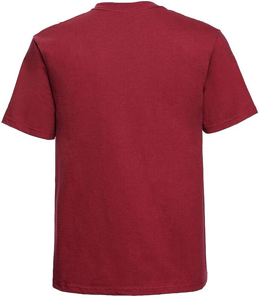 Homme T-Shirt /épais /à Manches Courtes 100/% Coton Russell Europe