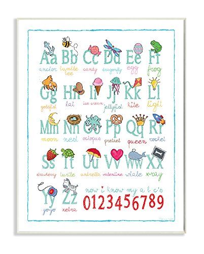 Stupell Home Décor ABCs 123s Song and Icons