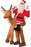 Forum Novelties Santa Riding a Reindeer Costume for Adults - One size