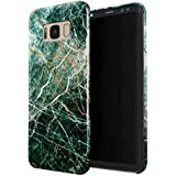 BURGA Samsung Galaxy S8 Case, Dense Jungle Emerald Green Jade Stone Marble Thin Design Durable Hard Shell Plastic Protective Case For Samsung Galaxy S8
