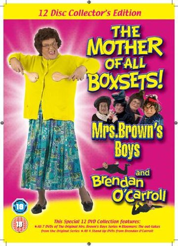 Mrs Brown's Boys & Brendan O'Carroll 12 Disc Collector's Edition including Mrs Brown's Bloomers & Brendan O'Carroll Stand Up Colllection (Imported fron Ireland Region 2 encoding (This DVD will not play on most DVD players sold in the US or Canada [Region 1])