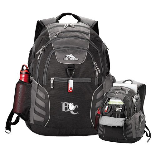 Barton High Sierra Big Wig Black Compu Backpack 'Official Logo' by CollegeFanGear