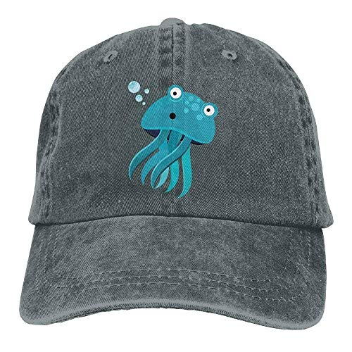 Sport Hat DEFFWB Denim Jellyfish Blue Skull Women Hats Cowgirl Cap Cowboy Men for q8dqnrR